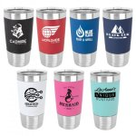 20 oz.Vacuum Insulated Tumbler w/ Silicone Grip & Plastic Lid, 7 Colors Vehicle Gifts & Accessories