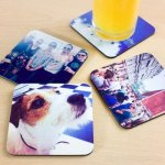 Drink Coasters, Square with Color Imprint Wedding Gifts