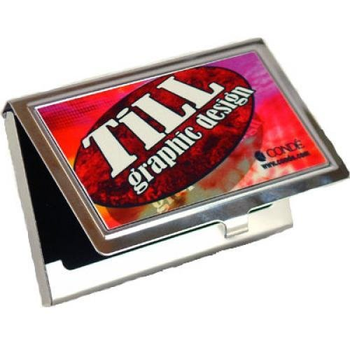 Business card holder with front imprint desk office accessories business card holder with front imprint reheart Images